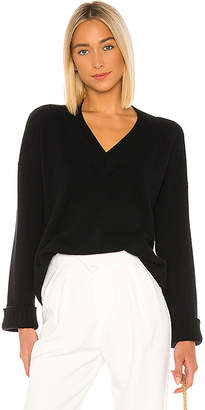 Autumn Cashmere Boxy V Wide Sleeve Sweater