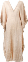 Forte Forte deep V-neck tunic dress - women - Linen/Flax - I