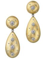 Buccellati Macri 18k Pendant Earrings w/ Diamonds