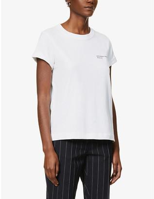 Designers Remix #12 text-print upcycled cotton-blend T-shirt