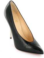 Lola Patent Patent Pump W/Metallic Heel