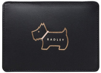 Radley Heritage Dog Outline Black Credit Card Holder