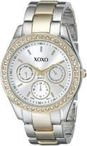 XOXO Women's Rhinestone Accent Two Tone Bracelet Watch XO5429