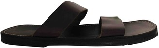 Non Signã© / Unsigned Brown Leather Sandals