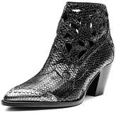 Zadig & Voltaire Women's Cara Laser-Cut Snake-Embossed Leather Western Booties