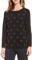 Investments Long Sleeve Embellished Sweater