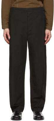 Lemaire Black Pleated Drawstring Trousers