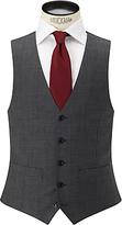 John Lewis Sharkskin Super 100s Wool Regular Fit Waistcoat, Mid Grey