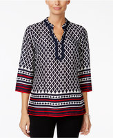 Charter Club Petite Printed Tunic, Only at Macy's