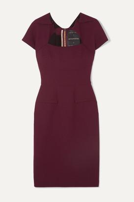 Roland Mouret Wool-crepe Dress - Burgundy
