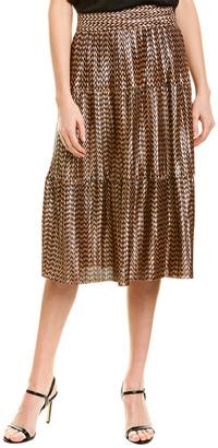 City Sleek Metallic A-Line Skirt