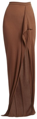 Rick Owens Soft Grace Cashmere Knit Maxi Skirt