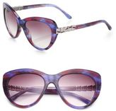 Bvlgari Scaled Arm 55MM Butterfly Sunglasses