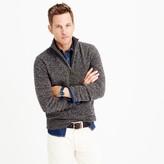 J.Crew Marled lambswool half-zip sweater