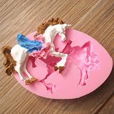 Buckdirect Worldwide Ltd. Carousel Unicorn Horse Fondant Mold Silicone Mould Cake Decorating Tool