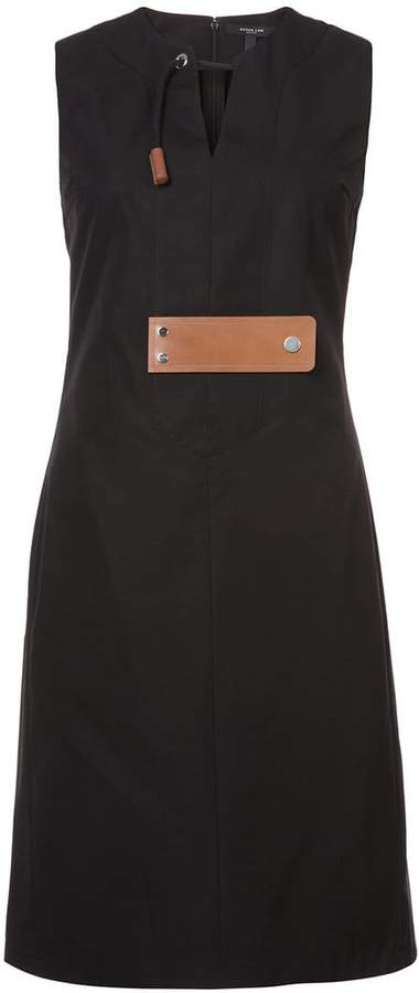 Derek Lam Sleeveless Dress With Leather Tab Detail