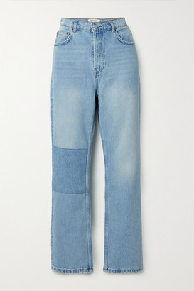 Reformation Patch Cynthia Organic High-rise Straight-leg Jeans