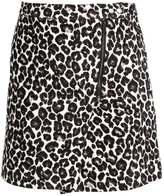 Dorothy Perkins LEOPARD PRINT JACQARD Mini skirt yellow