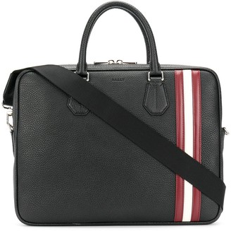 Bally laptop bag with Stripe trim
