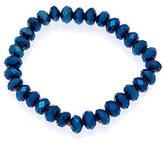 AJ Fashion Jewellery Dillie Blue /Multi Colou Elasticated Bracelet