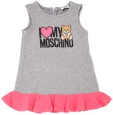 Moschino Bear Logo Printed Cotton Dress