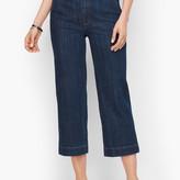 Talbots Wide-Leg Crop Jeans - Deep Azure