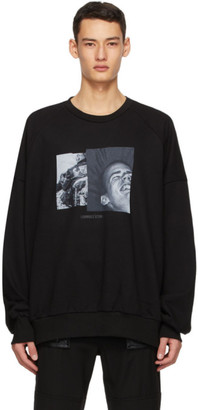 Juun.J Black Face Sweatshirt