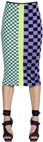 Versace Cotton Blend Jacquard Pencil Skirt
