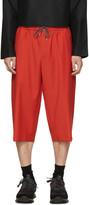 McQ by Alexander McQueen Red Wool Drawstring Shorts