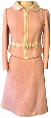 Courreges Pink Cotton Skirt for Women Vintage