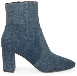 Saint Laurent Lou Denim Ankle Boots