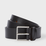 Paul Smith Men's Black Leather Suit Belt With Contrasting Orange Lining