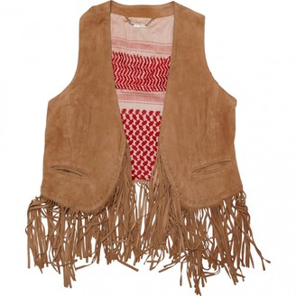 Le Sentier Brown Suede Leather Jacket for Women