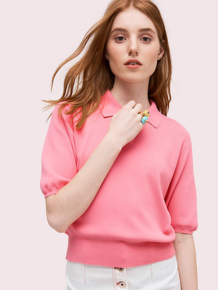 Kate Spade Solid Polo Sweater