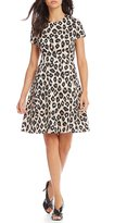 Jessica Howard Animal Print Fit-and-Flare Dress