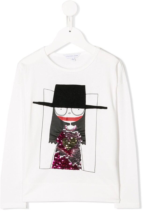 Little Marc Jacobs sequin doll T-shirt