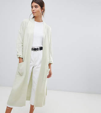 Micha Lounge maxi cardigan with belted wrap-Green