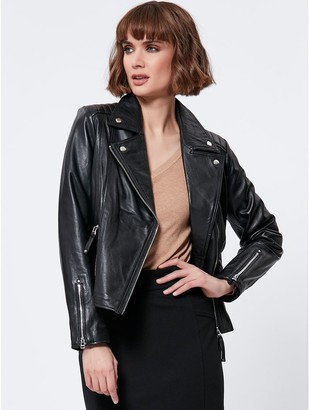 M&Co Faux leather biker jacket