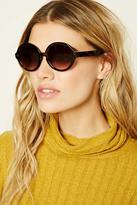 Forever 21 FOREVER 21+ Gradient Round Sunglasses
