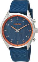 Head Men's 'Advantage' Quartz Stainless Steel and Silicone Casual Watch, Color: (Model: HE-002-02)