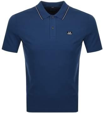 C.P. Company C P Company Short Sleeved Polo T Shirt Blue