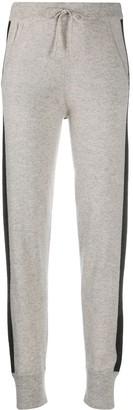 N.Peal Stripe Detail Cashmere Lounge Trousers