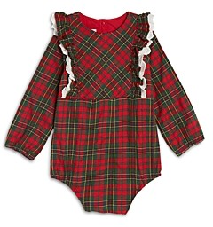Pippa & Julie Girls' Plaid Bodysuit - Baby