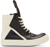Rick Owens Black & White Geobasket High-Top Sneakers