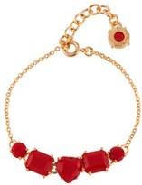 Les Nereides La Diamantine 5 Vermilion Red Stones Bracelet.