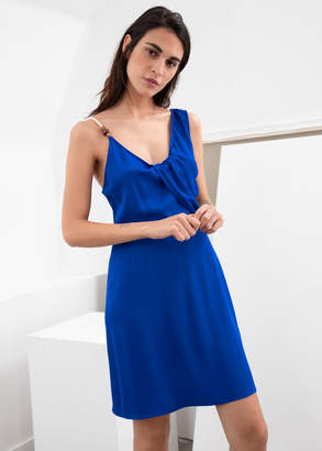 And other stories Rope Strap Draped Mini Dress