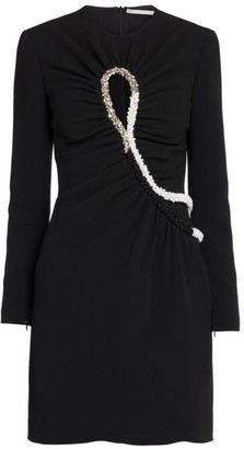 Stella McCartney Leah Embellished Keyhole Mini Dress