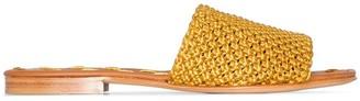 Carrie Forbes Elisa raffia flat sandals