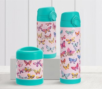 Pottery Barn Kids Mackenzie Pink Rainbow Butterflies Hot & Cold Container
