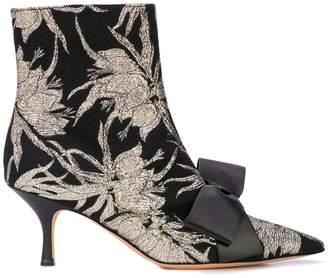 Rochas brocade print boots
